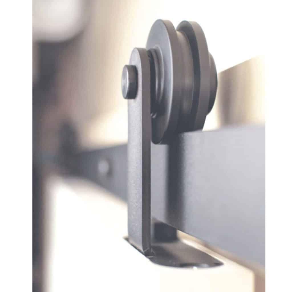 Barre Pour Porte Coulissante kit noir pour porte coulissante en applique bois - eurowale
