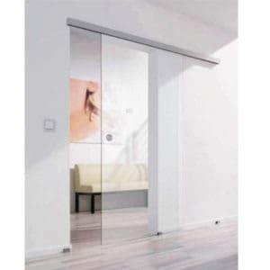 kit inox pour porte en applique verre eurowale. Black Bedroom Furniture Sets. Home Design Ideas